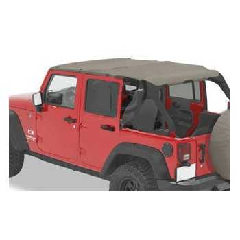 Bikini® Tops SAFARI KAKI WRANGLER JK 4 Ptes Unlimited 2007-2009
