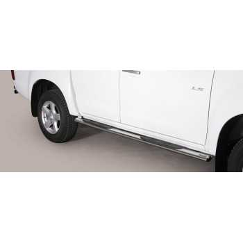 MARCHE PIEDS INOX OVAL ISUZU D-MAX 12- DOUBLE CAB