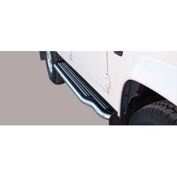 MARCHE PIEDS INOX 50MM LAND ROVER DEFENDER 110