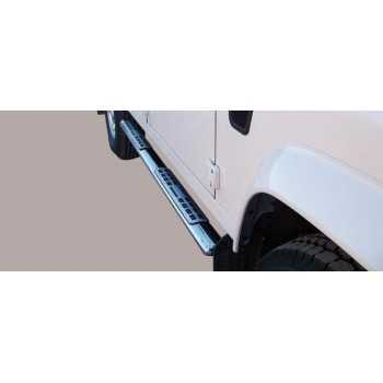 Marche pieds inox ovale LAND ROVER DEFENDER 90