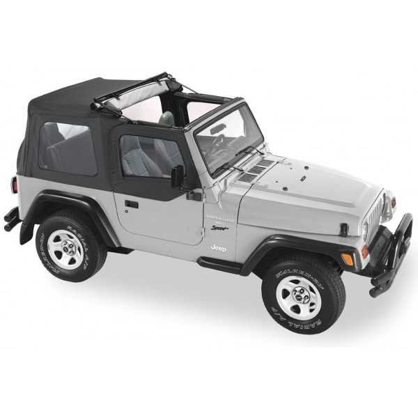 Capotage Pavement Ends® Flip Top noir Jeep Wrangler TJ 97-06