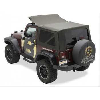 Capotage de remplacement Bestop® kaki Jeep Wrangler JK 2007-2009