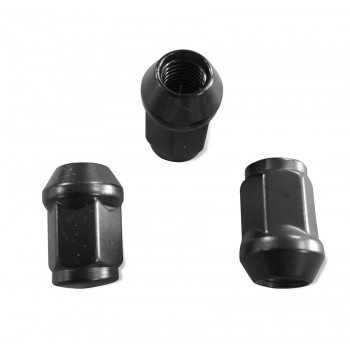 Ecrou de roue noir 12X1,25 pour clé de 19 mm NISSAN - SANTANA - LADA NIVA