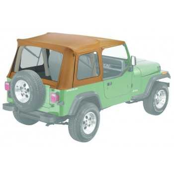 Capotage de remplacement Bestop® beige Jeep Wrangler et CJ 1976 à 1995