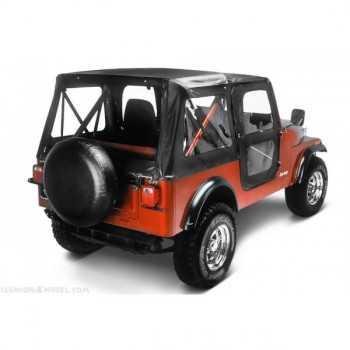 Capotage Bestop® de remplacement noir jeep CJ7 76 A 86
