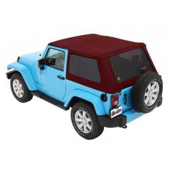 Capotage Bestop® trektop nx plus twill rouge Jeep Wrangler JK 2 Portes 07-18