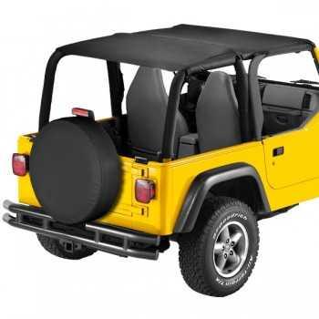 Bikini® Tops Bestop® safari noir Jeep Wrangler TJ 1997-2002