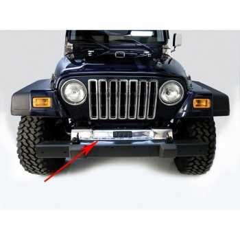 Couvre châssis avant inox Jeep Wrangler TJ 1997-2006