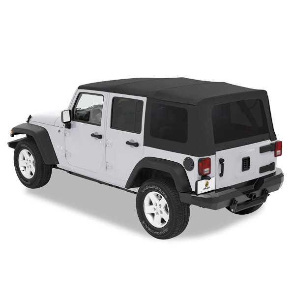 Capotage Supertop® BESTOP noir Jeep Wrangler 2007-2018