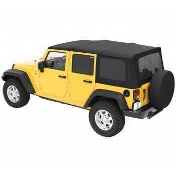 Capotage Supertop® BESTOP sur véhicule jaune