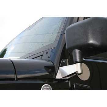 Support de retroviseur inox Jeep Wrangler 2007-2018