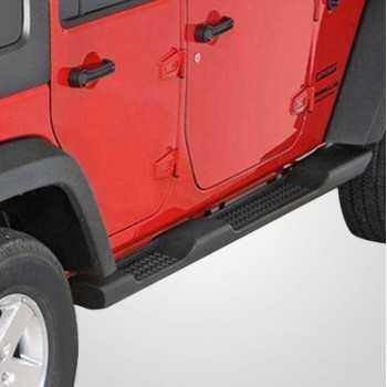Marche pieds ABS noir Jeep Wrangler JK 4 portes 2007-2018