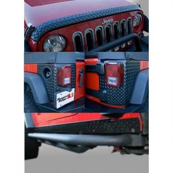KIT DE PROTECTION STRIE NOIR JEEP WRANGLER 4 Ptes 07-14